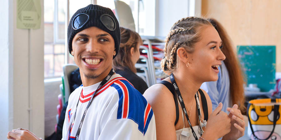 Two UAL Insights students during a classroom session