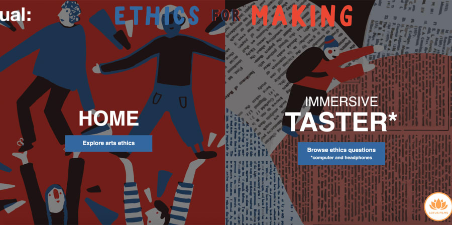 Image depicts the landing page of the Ethics for Making site.