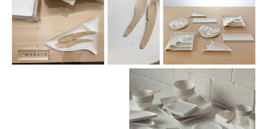 Packaging research into compostable cutlery.