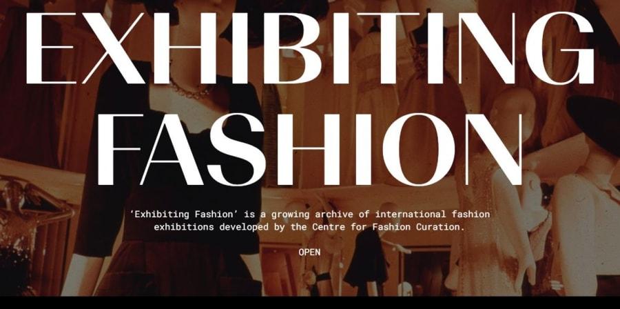 screen shot of exhibiting fashion website