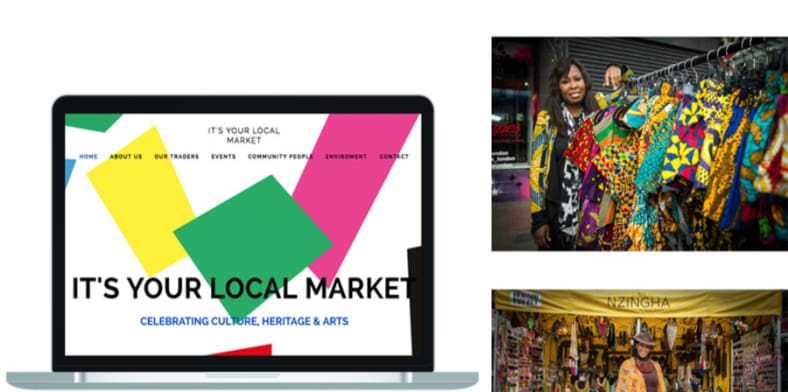 Website design for It's Your Local Market