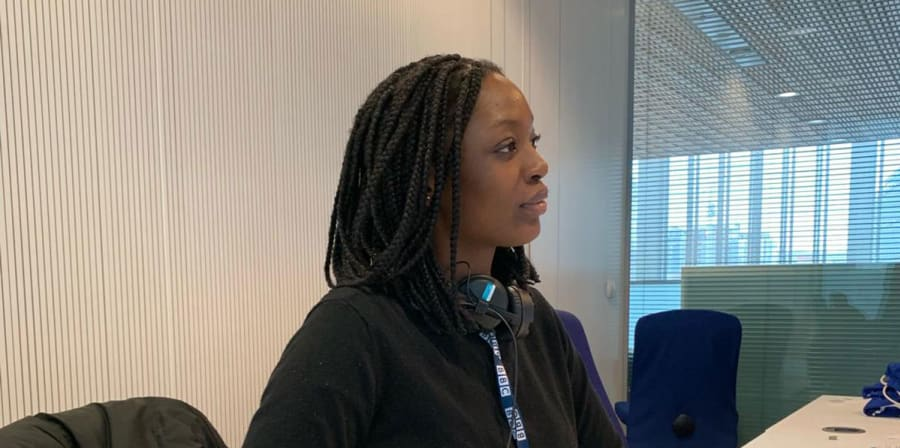 Mariama learning at the World Service