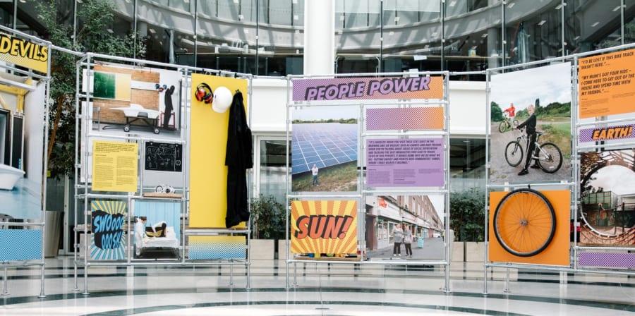 Student work featured in BNP pop-up exhibition