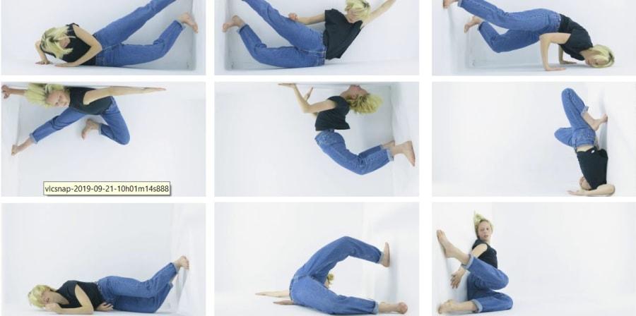 multiple images of a dancer