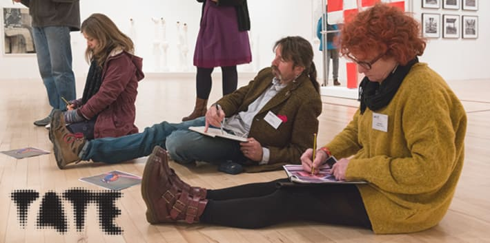 Students sketching in Tate gallery