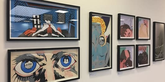 Kubrick inspired Mondo prints LCC library