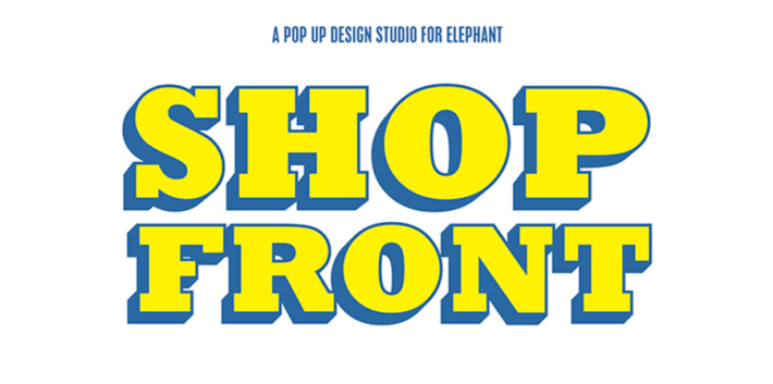 Shop Front - a pop-up design studio for elephant