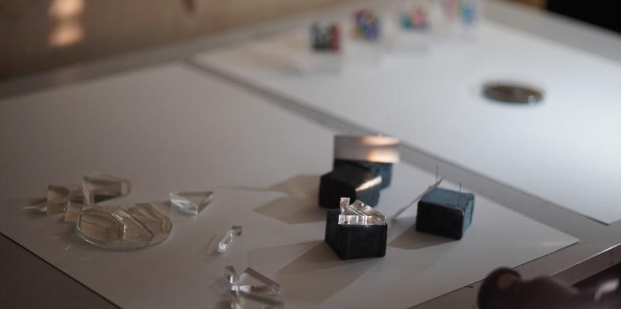 Close up of Brigitte Kock's work