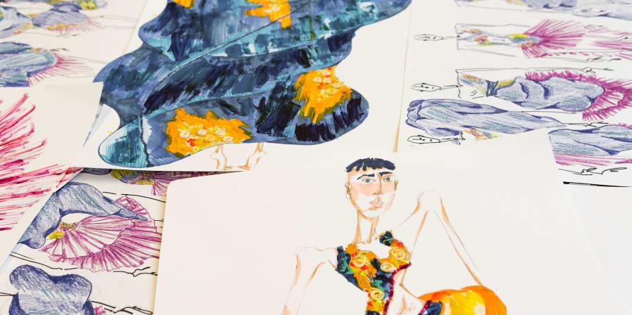 Colorful fashion illustrations