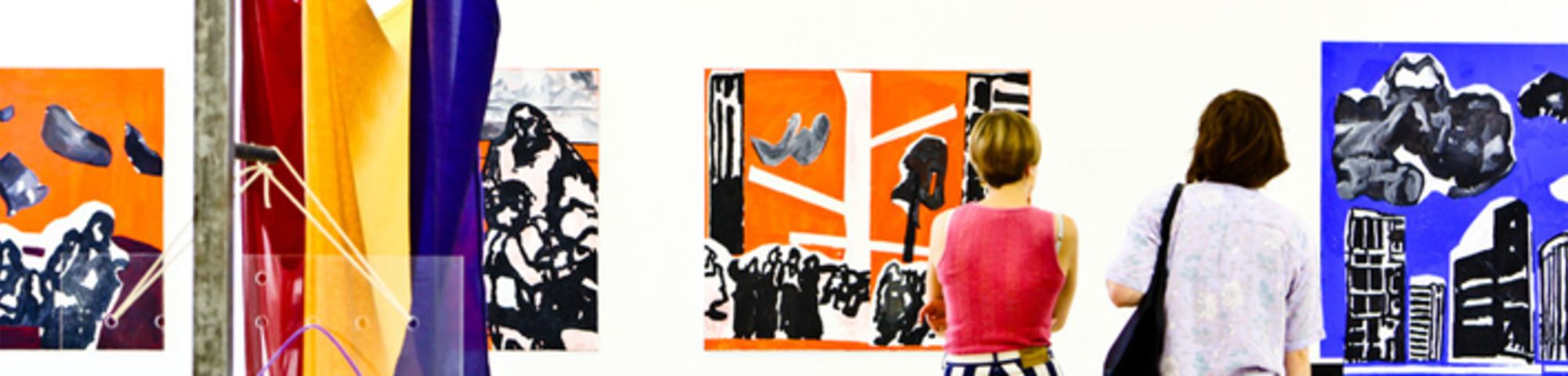 Artwork being viewed