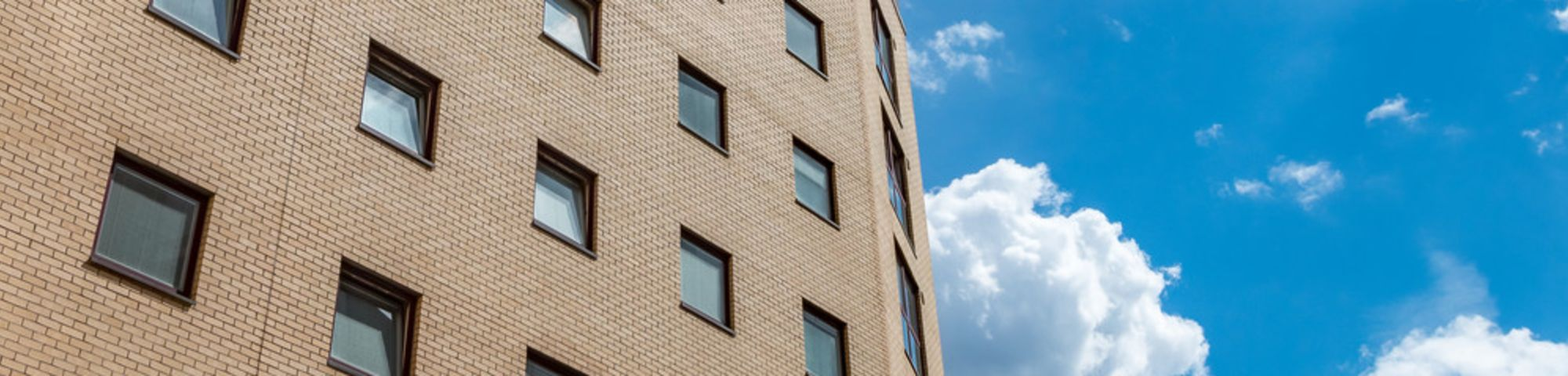 Exterior shot of Manna Ash House hall of residence