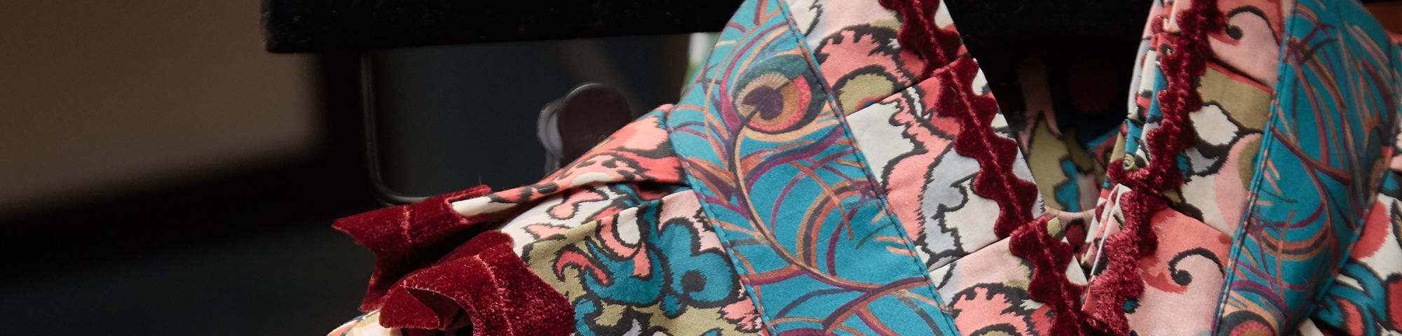 Close up of Liberty Print Collar