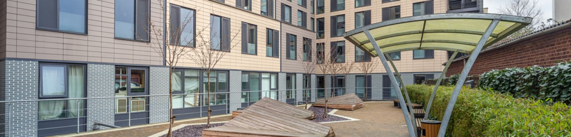 Exterior shot of Glassyard Building hall of residence