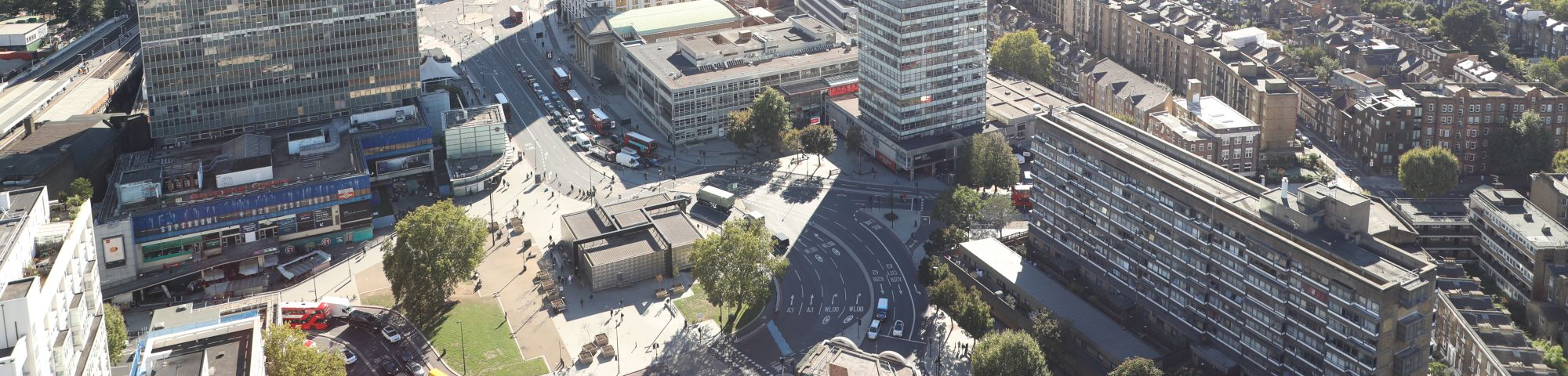 Image of LCC and Elephant and Castle taken from above