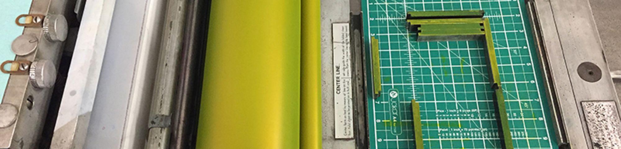 Pantone Yellow on active interlocking furniture