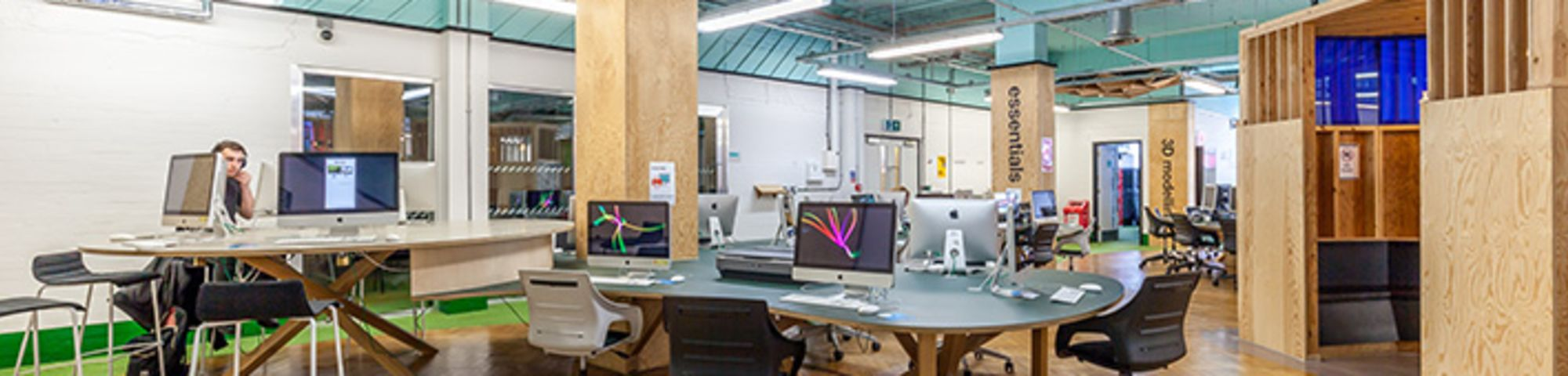View of Macs in the digital space
