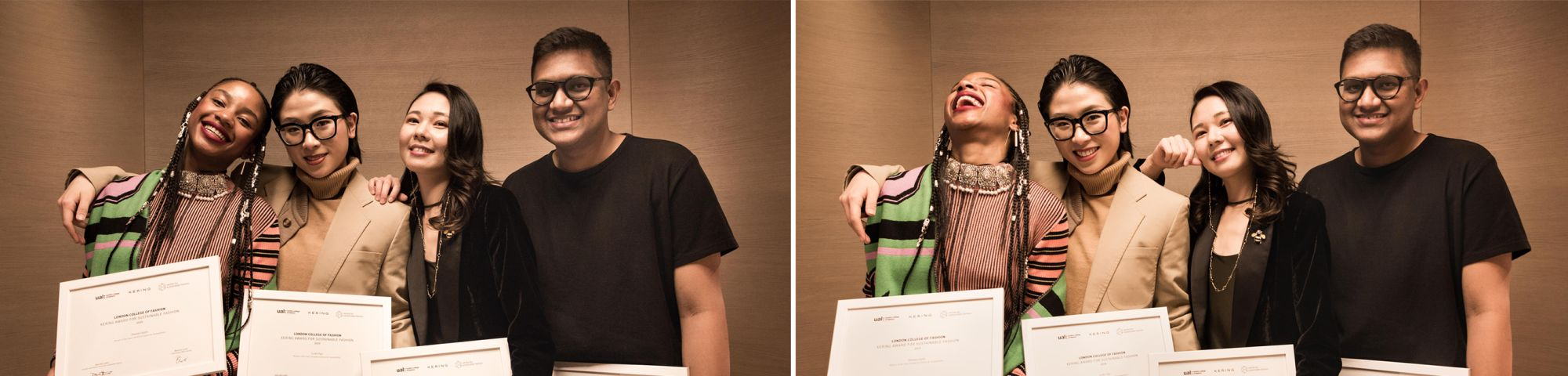 Winners of the Kering Awards with their awards