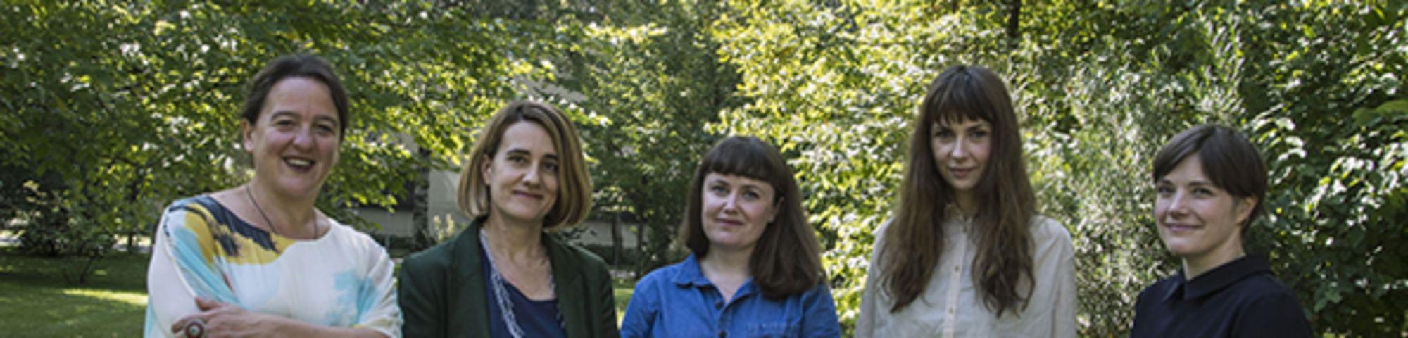 Max Mara Art Prize for Women  Tania Kovats, Ana Génoves, Ruth Ewan, Phoebe Unwin, Emma Hart. Photo – Gabriele Micalizzi Cesura. Courtesy Collezione Maramotti