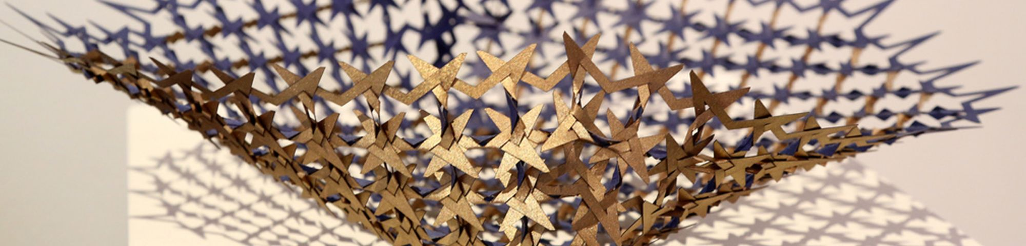 Close-up shot of a bowl made-up of metal stars