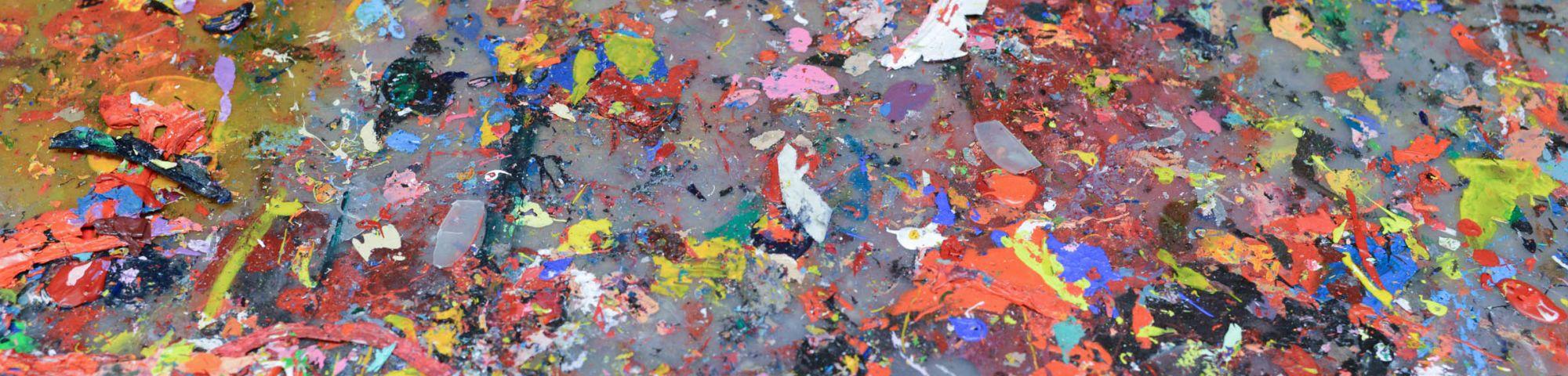 Close up shot of paint splodges