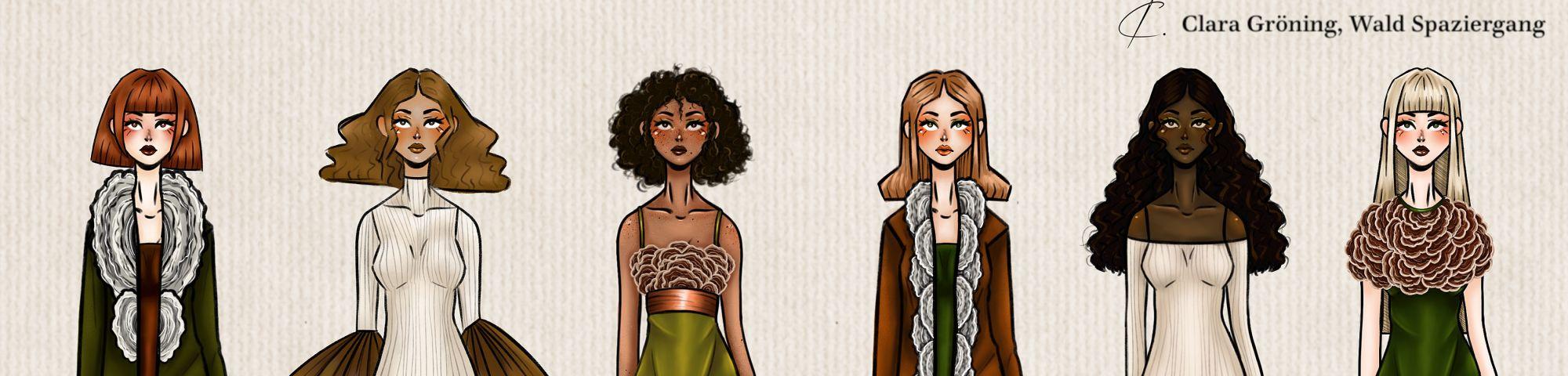 Clara's fashion illustration