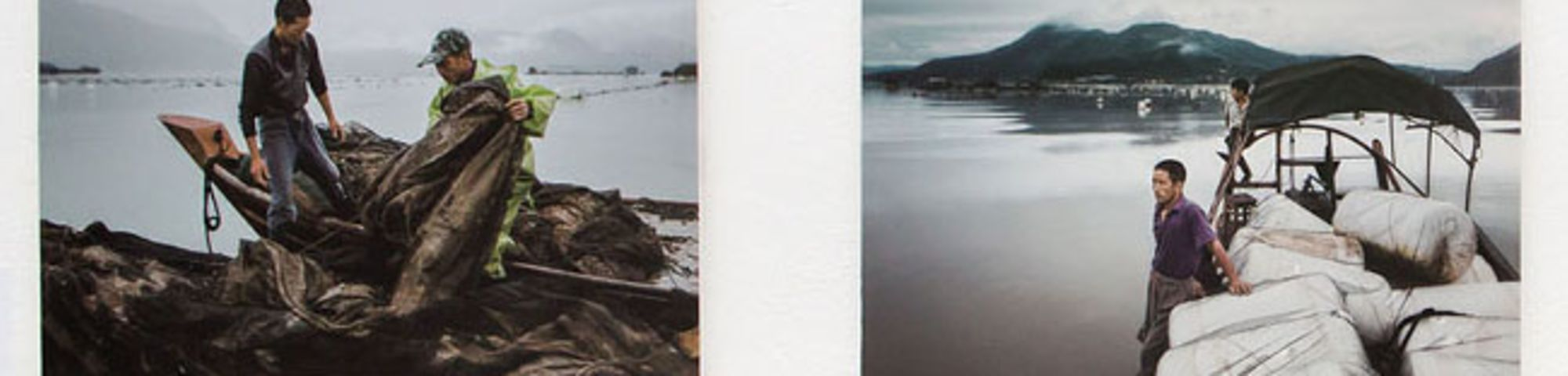 Two photos of seaside scenes next to each other