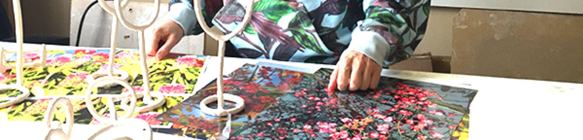 Emma Hart in her studio