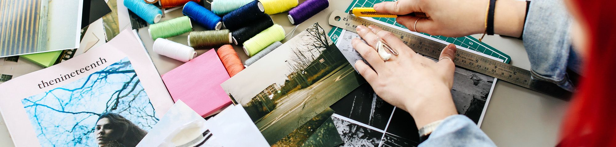 Collage and photography by Danielle Tartaro, International Preparation for Fashion student at London College of Fashion