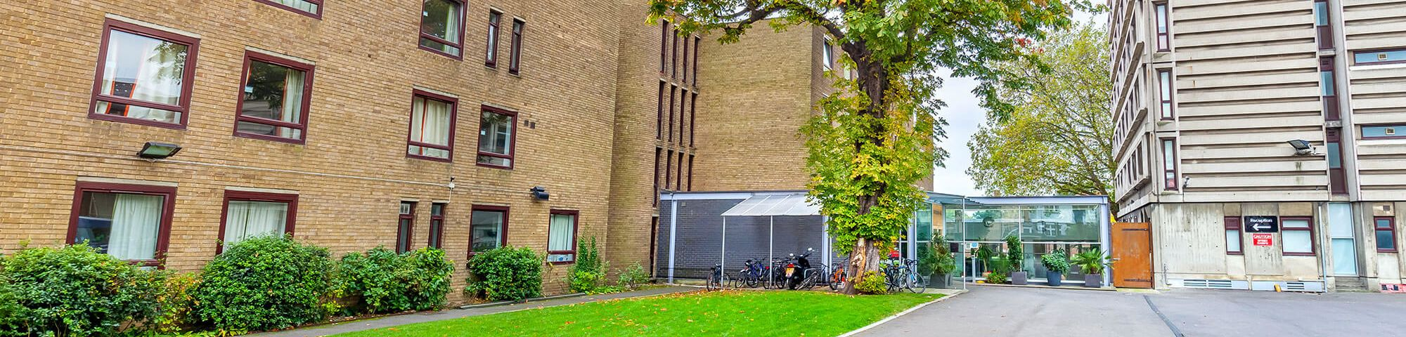 Exterior of building at Furzedown Student Village halls of residence