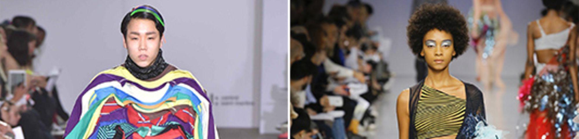 Untitled-Left, Goom Heo, BA Fashion 2017, and right, Gabriella Sardena, MA Fashion 20171