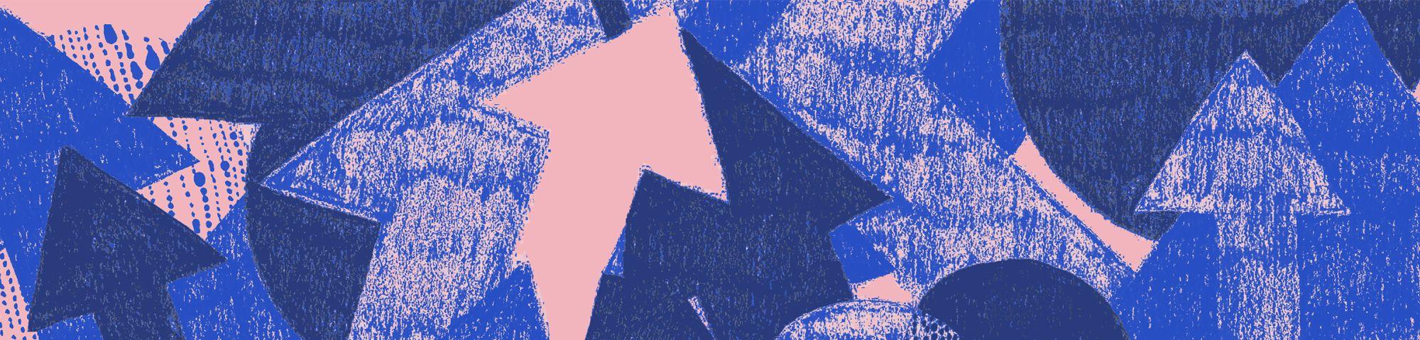 Blue Arrows Banner
