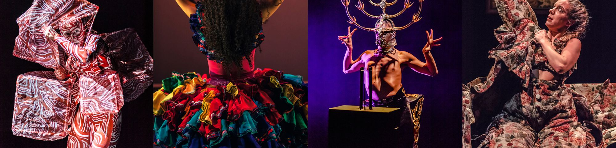 Costumes designed by LCF students from MA Costume Design for Performance