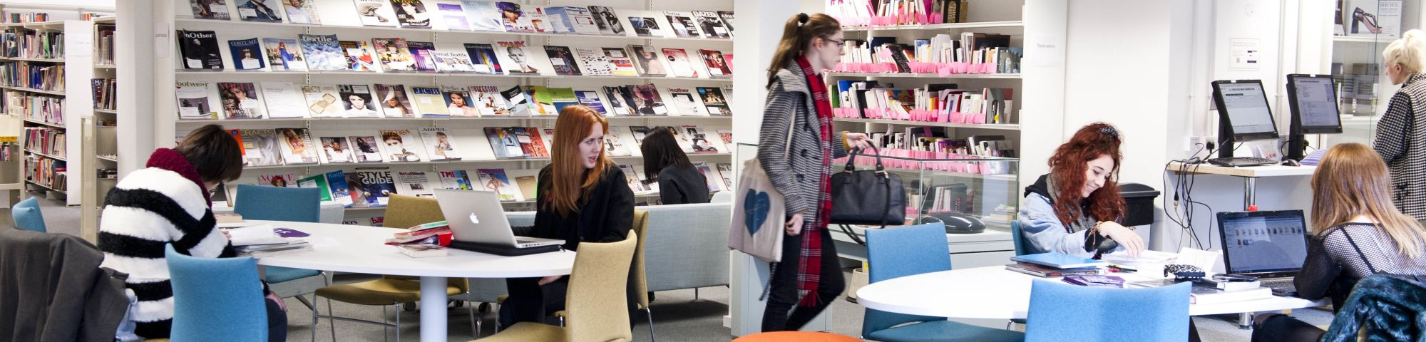Students in LCF library.