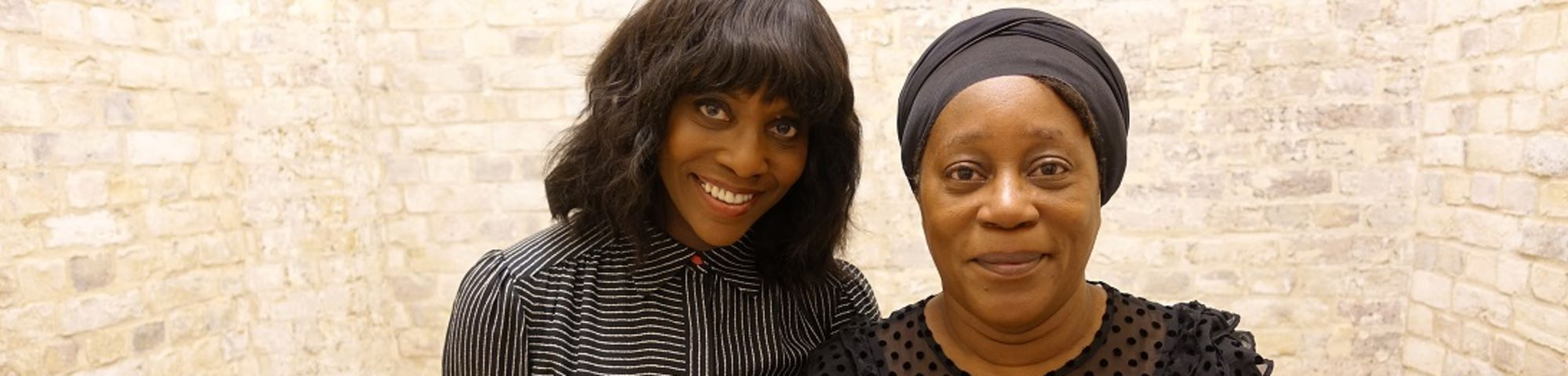 Brenda Emmanus (left) and Sonia Boyce (Right). Photography by Lorian Reed-Drake. BBC Studios web