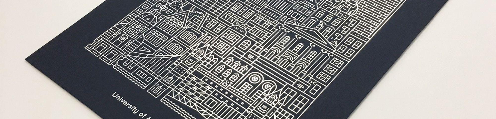 Close up of a UAL print