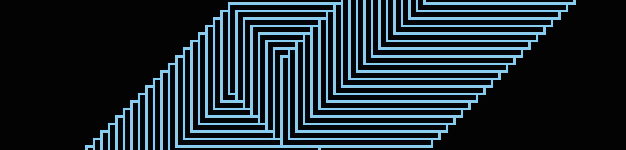 Chelsea College of Arts graduate showcase graphics designed by Pentagram.