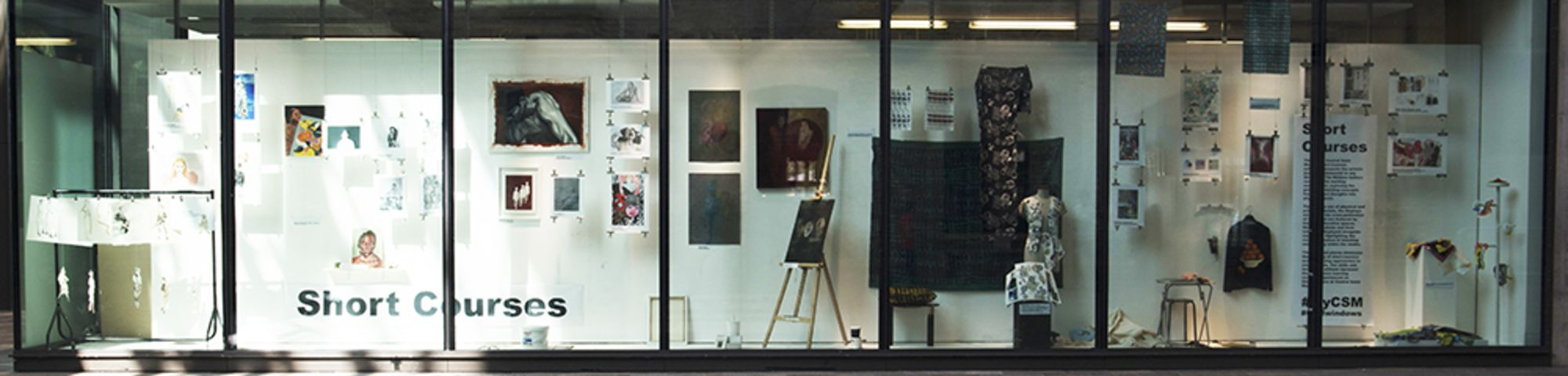 CSM Short Courses Window Gallery Exhibition left side