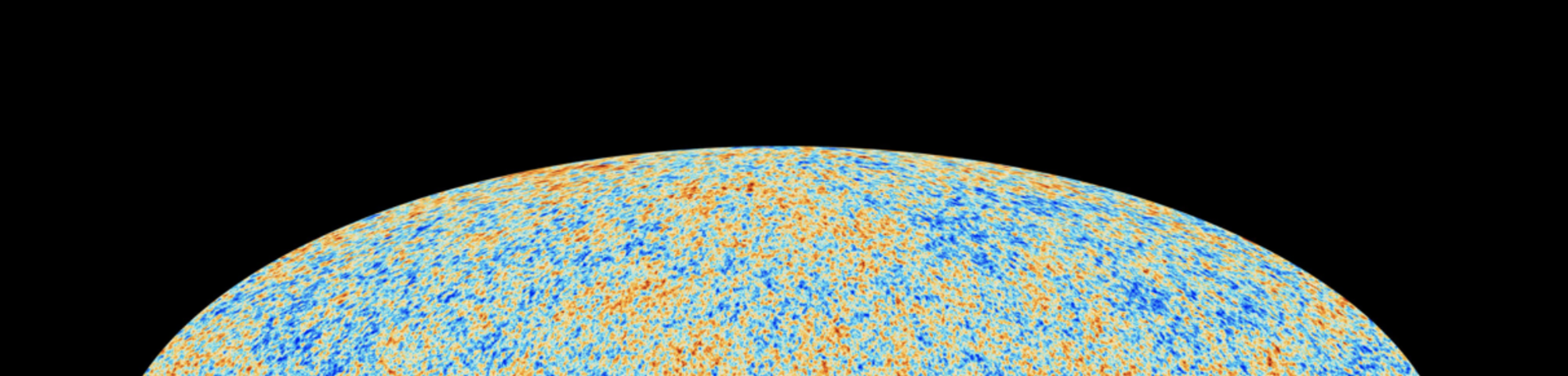 Roberto Trotta digital image of The Planck Collaboration, a CMB Map on a black background