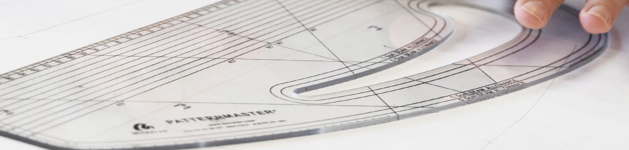 Measuring ruler on paper, Patternmaking - Level 2, © Central Saint Martins BANNER