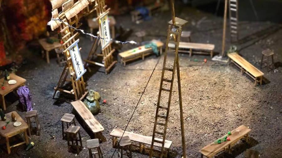 Set model by MA Theatre Design student Asimina Spyratou.
