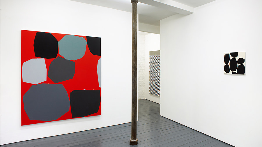 Installation photo of Daniel Sturgis exhibition And Then Again at Noshow gallery