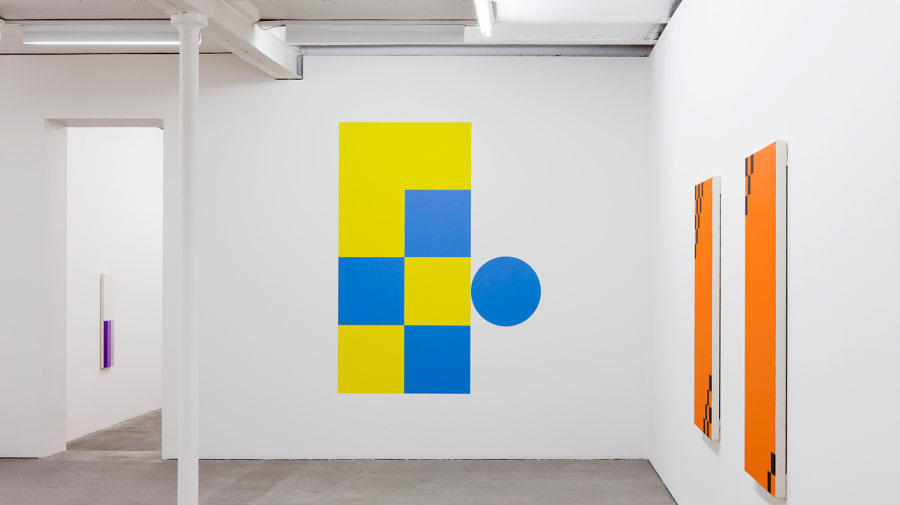 Installation photo of The indiscipline of painting international abstraction from the 1960s to now at Tate St Ives. Curated by Daniel Sturgis.