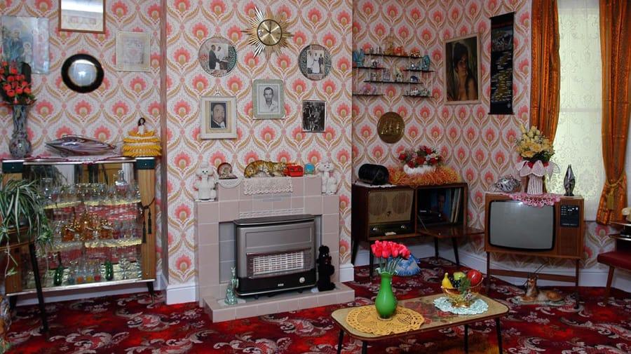 Interior of house.