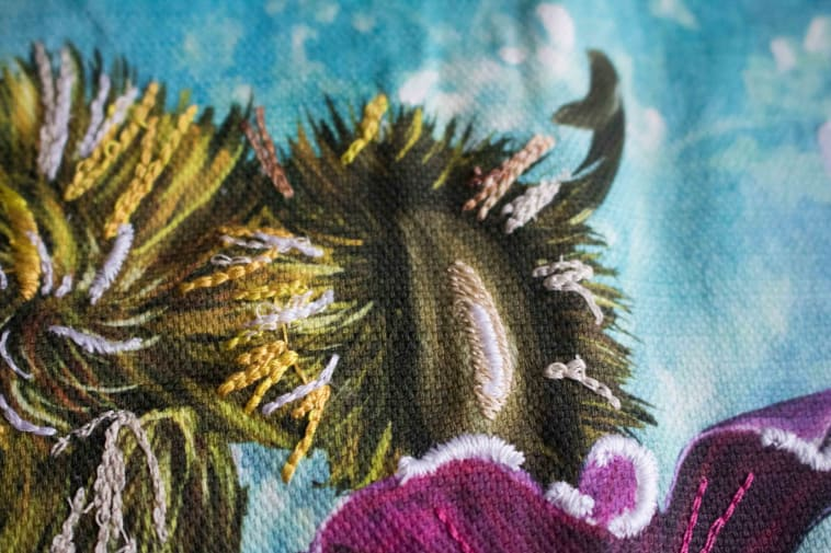 Digital Embroidery closeup