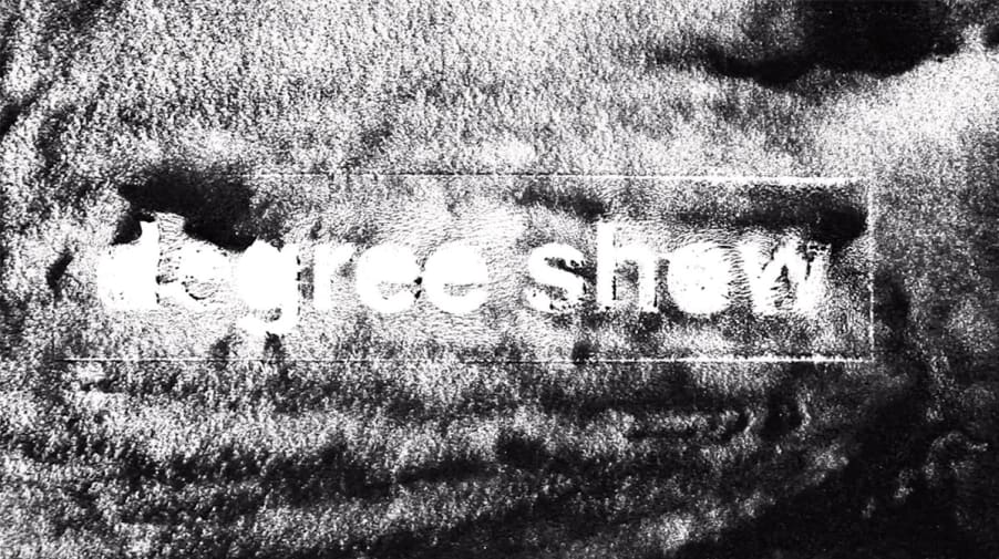 A black and white pattern from the degree show promotional film.