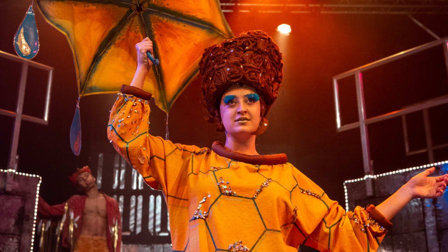 Performance of Alice Through the Looking Glass. A collaboration with ARLA and BA Costume for Theatre and Screen.