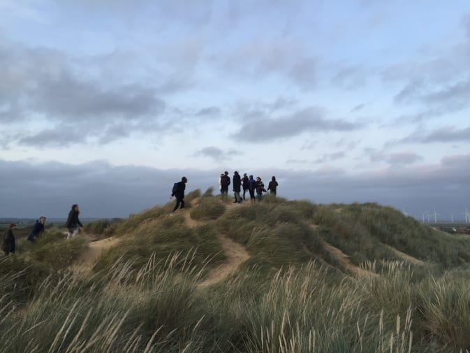 First year students on the Cambersands trip