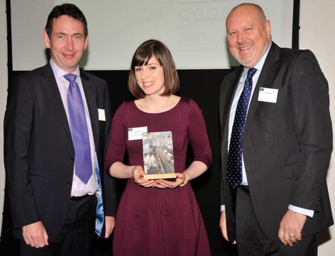 Rhiannon Hunt winning the Wrap Prize