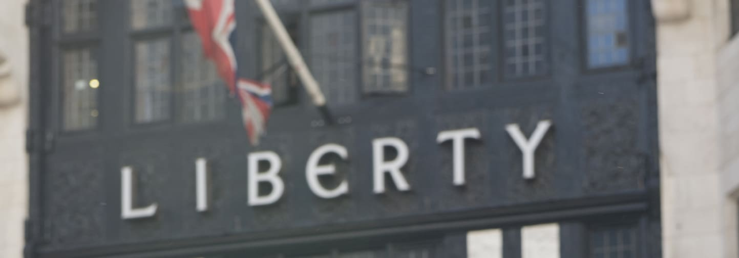 Liberty London department store works with Visual Merchandising students