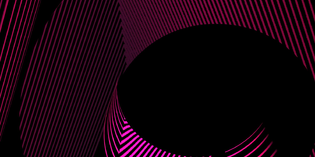 Pink abstract lines on black background